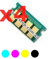 Picture of Bundled Set of 4 Compatible Toner Reset Chips - suits Xerox DocuPrint CM225fw