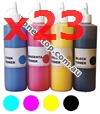 Picture of Bundled Set of 4 Compatible Toner Refills (Includes 20 Toner Chips) x23 Times Yield - suits Xerox DocuPrint CM225fw