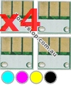 Picture of Bundled Set of 4 Compatible Drum Reset Chips - suits Develop INEO +280