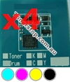 Picture of Bundled Set of 4 Compatible Drum Reset Chips - suits Xerox ApeosPort-IV C4430